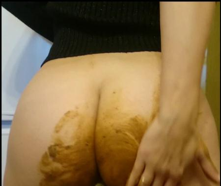 Smearing (Brown wife) Extreme! Shiting in the Public Hall [FullHD 1080p] Panty, Jean Pooping