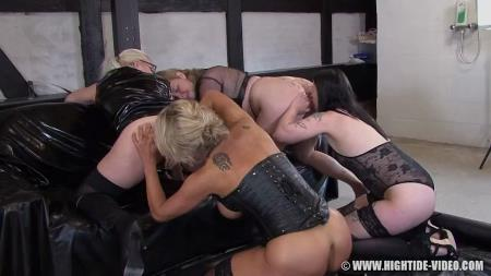 Hightide-Video (Betty) Betty & Friends - Four Of A Kind [HD 720p] Lesbian, Humiliation