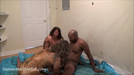 Scatology (Shit Smeared Threesome) Samantha Starfish and Scat Goddes, Black Dirty Dick  [FullHD 1080p] Scat Sex, Eating, Kaviar Scat