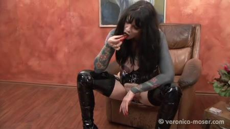 Scat Humiliation (Veronica Moser) The Bitch 3 [SD] Femdom Scat, Shitting
