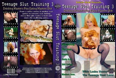 Scatting (Teen girls Louise Hunter, and the masked minger man) Teenage Slut Training 3 [DVDRip] Scat, Blowjobs, Europe