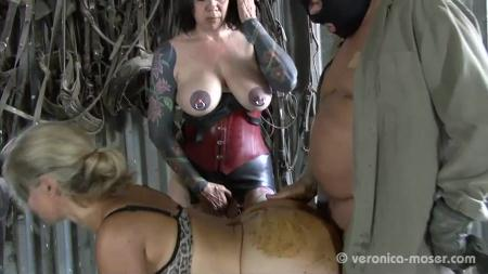 Domination Scat (Veronika, Molly) Slut Farm [SD] Poopping, Femdom Scat
