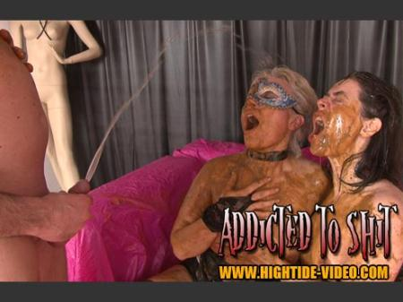 Hightide-Video (Models: Gina, Ingrid, 1 Male) ADDICTED TO SHIT [SD] Human Toilet, Humiliation