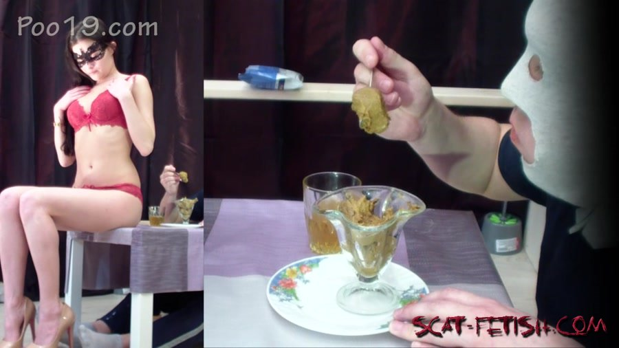 Femdom Scat (Smelly Milana) Very tasty dessert from Christina [FullHD 1080p] Scat Porn, Humiliation