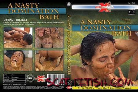 MFX Media (Chelly, Perl) [SD-4195] A Nasty Domination Bath [HDRip] Scat, Piss, Lesbian