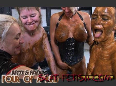 Hightide-Video.com (Betty, Molly, Monalisa) BETTY & FRIENDS - FOUR OF A KIND [HDRip] Lesbian, Human Toilet