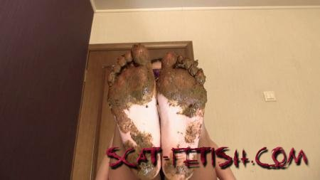 Foot Scat (Princess Mia) Mia Pov Foot smearing Scat with Princess Mia and toilet slave [FullHD 1080p] Feet, Femdom