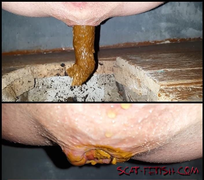 Solo Scat (Anna Coprofield) Outdoor Village Toilet 5 Shit Compilation [FullHD 1080p] Big Pile, Amateur