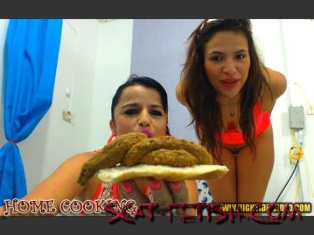 Hightide-Video (Messy Paula, Scatdoll) HOME COOKING [HD 720p]