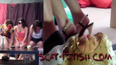 Femdom Scat (MilanaSmelly) Group use of female toilet slave [HD 720p] Humiliation, Face Sitting