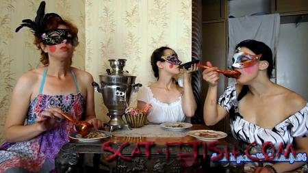 Stars Scat (ModelNatalya94) Three friends eat their own shit [FullHD 1080p] Smearing, Piss, Amateur