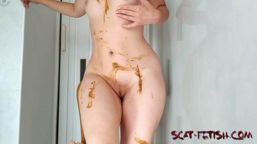 Extreme Scat (NastyGirl) Sexy pooping on dildo playing and smearing [HD 720p] Scat, Solo, Amateur