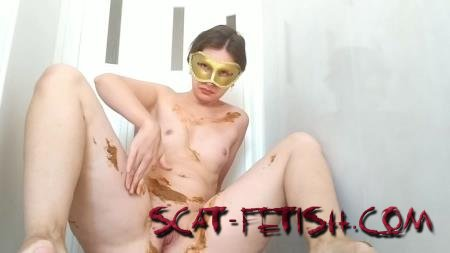 Shitting Girls (NastyGirl) Pooping in sexy lace pants and smearing [HD 720p] Amateur, Solo