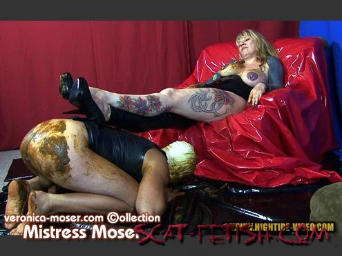 Hightide Scat (Veronica Moser, 1 male) VM42 - MISTRESS MOSER [HD 720p] Latex, Humiliation, Strapon