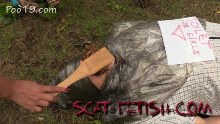Humiliation Scat (MilanaSmelly) Free toilet for girls in the forest [HD 720p] Femdom, Outdoor