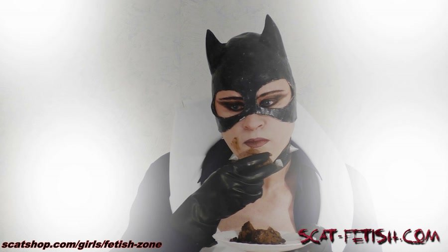 Extreme Scat (Fetish-zone) Catwoman smears and swallows [FullHD 1080p] Scatology, Solo