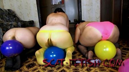 Shitting Ass (ModelNatalya94) Game with balloons [FullHD 1080p] Amateur, Lesbians