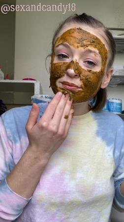 Scatting (sexandcandy18) Teen's first diaper fill + face mask! [UltraHD 2K] Amateur, Young