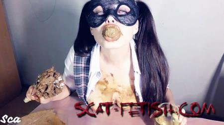 Shit Eating (ScatLina) Shitty homework [FullHD 1080p] Tits, Shit