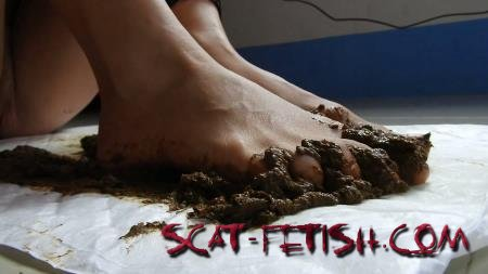 Foot Scat (MissAnja) Scat Feet And Dirty Anal Fun [FullHD 1080p] Fetish, Poop