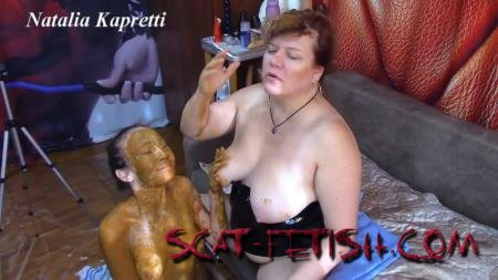 Mask in Shit (Mistress) She covered in shit, she my toilet [FullHD 1080p] Femdom, Shit