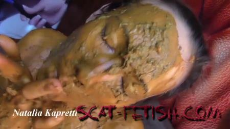 New scat (Mistress) She covered in shit, my ashtray, toilet [FullHD 1080p]