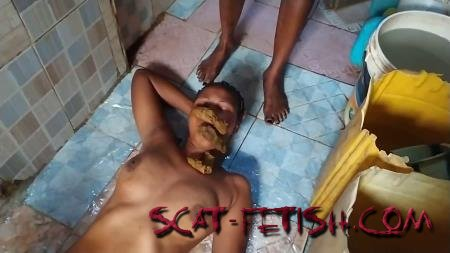 Toilet Slavery (ShitGirls) A Nice, Quick But Huge, Soft Shit Outside In Nigeria [FullHD 1080p] LezDom, IR